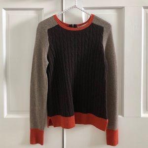 Autumn Cashmere Color Block 100% Cashmere Sweater